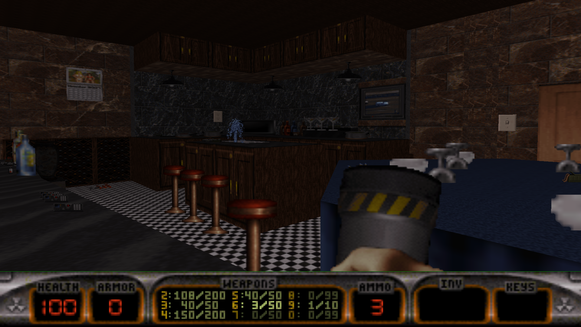 Kitchen Duke Nukem 3D Map