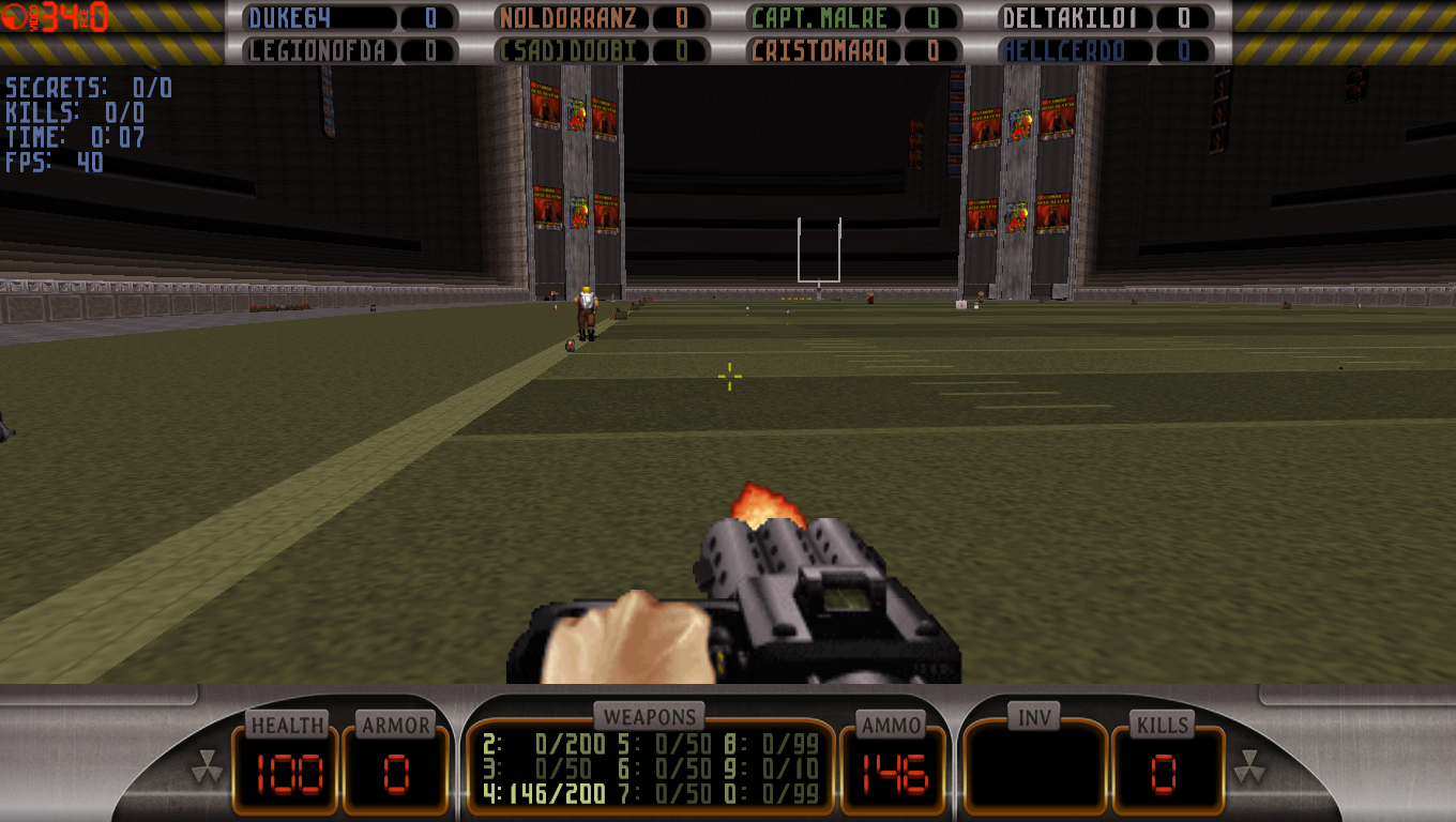 Buller Stadium Duke Nukem 3D Map