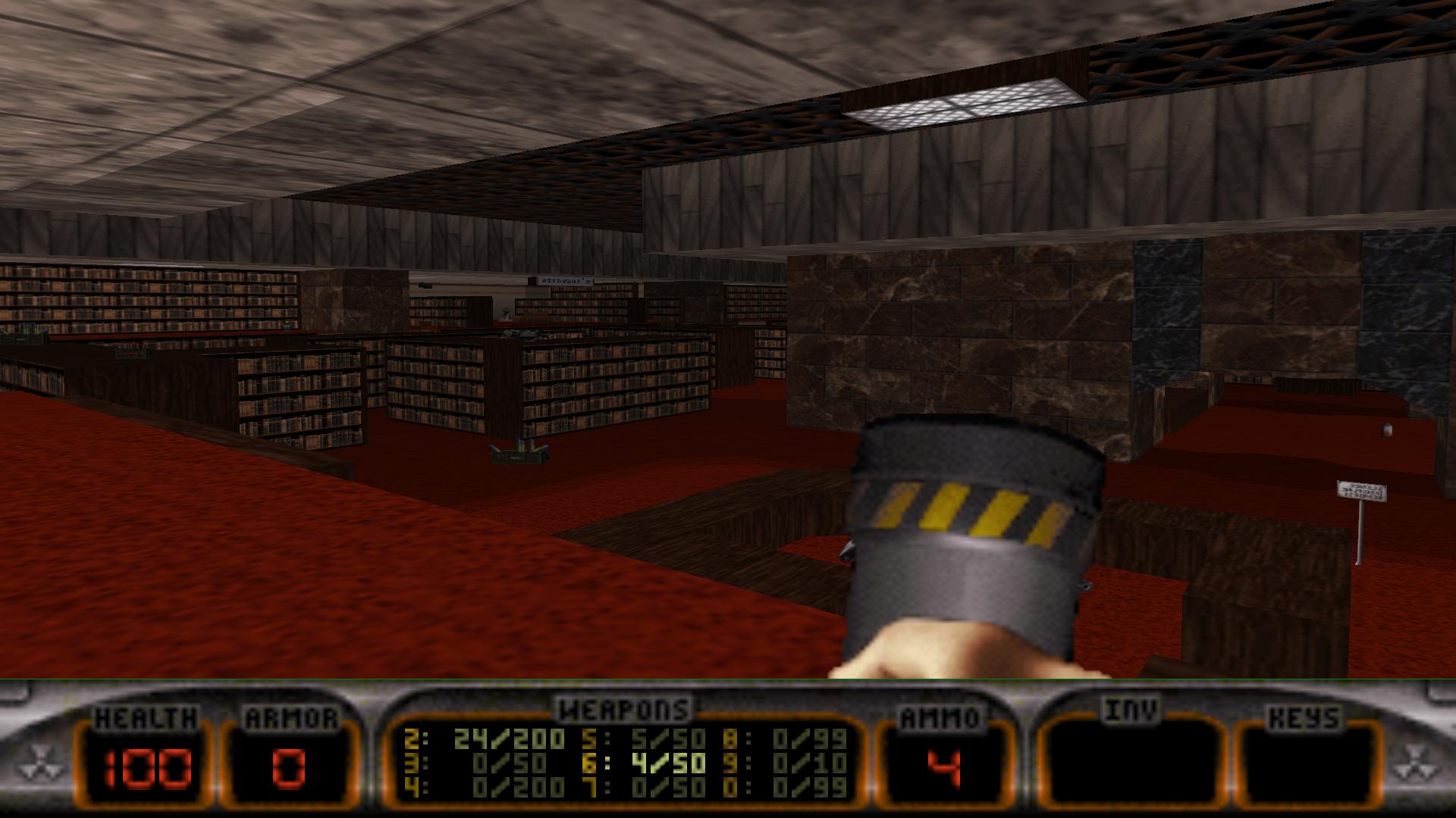Library Duke Nukem 3D Map